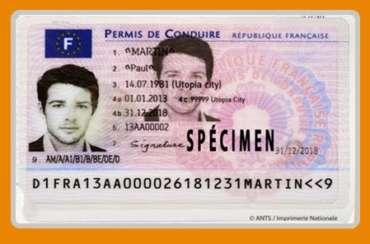 Résultat du permis de conduire