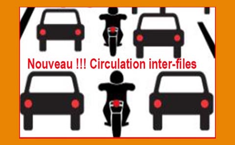 Nouveau !!! Circulation inter-files